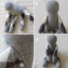Sew | Sock Bunny Lop-Eared | Free Pattern & Tutorial at CraftPassion.com - Part 2