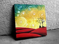 Easy Acrylic Painting On Canvas | Sold to a collector in British Columbia. 12×12 acrylic on canvas.