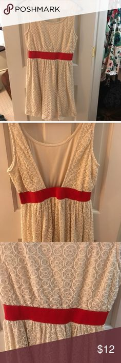 CLOSING TODAY Cream lace dress Worn once and in like-new condition. Will ship within 24 hours! Charlotte Russe Dresses