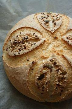 Naan kenyér (lakto-vega) - Kifőztük, online gasztromagazin Gluten Free Recipes, Bread Recipes, Vegetarian Recipes, Healthy Recipes, Bread And Pastries, How To Make Bread, Naan, Bread Baking, Nutella