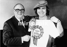 Elton John and Denis Howell Labour Minister for Sport