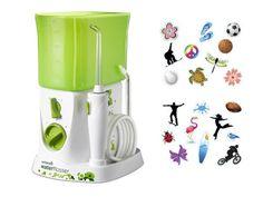 Irygator stomatologiczny dla dzieci Waterpik z kolorowymi naklejkami: http://spadental.pl/wp-260e-waterpik-743