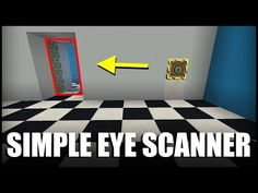 How to Make a Simple Eye Scanner in Minecraft - YouTube