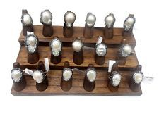 Walnut Color Solid Wood Ring Display
