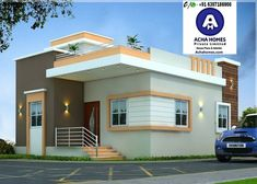 List of 800 Square feet 2 BHK Modern Home Design Modern Bungalow House Design, Single Floor House Design, Modern Small House Design, Small Modern Home, Simple House Design, House Front Design, Cool House Designs, 2bhk House Plan, Simple House Plans