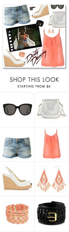 """""""Wipeout"""" by leanne-mcclean ❤ liked on Polyvore featuring Gentle Monster, Cynthia Rowley, Current/Elliott, ONLY, Jimmy Choo, Charlotte Russe and Alexandre Vauthier"""