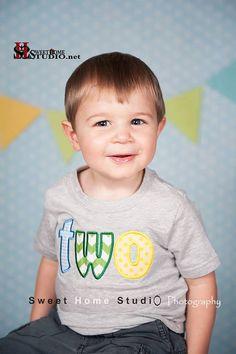 TWO birthday shirt for second birthday by FunkyMonkeyChildren, $23.00