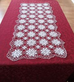 Vintage Table Runner White Delicate Hand by VintageLinenGallery