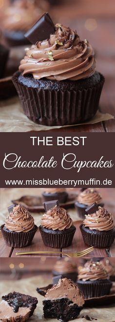 BEST Chocolate Cupcakes // super moist and yummy! Best Chocolate Cupcakes, Waffle Ice Cream, Cake Cookies, Yummy Cakes, Waffles, Muffins, Brunch, Sweets, Snacks