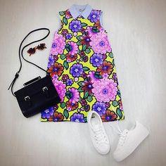 Summer Dress plus Summer kicks #asos #summer #floral #dress #sunnies #covetme