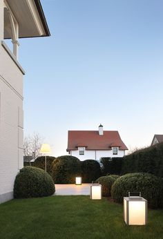 supermodular kabaz lighting at a private residence in knokke belgium