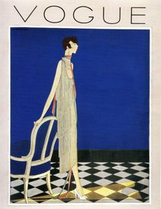 Vogue Cover February 1919 by Harriet Meserole | Harriet Meserole was born around the 1890's probably in the USA. She probably joined Vogue around 1916-1918.