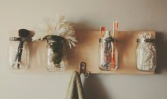 """My very first mason jar organizer!  If you love Home decor and Awesomeness come say hello and check us out! """"DOUBLE TAP"""" the image. <3"""