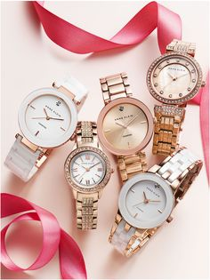 What's better than roses? Anne Klein rose gold watches!