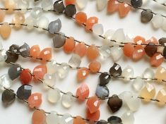 Multi Moonstone Faceted Mango Beads Rare Multi by gemsforjewels