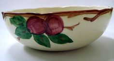 Vintage Bowl Franciscan Ware Apple Serving Bowl by fatcatvintage, $43.00