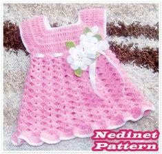 Crochet Pattern Baby Dress, Baby Dress Crochet Pattern, Crochet Baby Girl Dress Pattern, Dress Pattern, Crochet Flower, 0-4 y, How to make