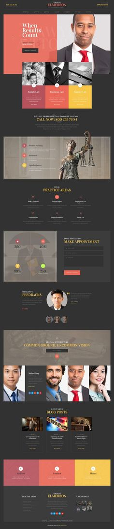 Lawyer & Attorney - personal lawyer and law company PSD template.  Chose WebsitesYES.com for your design needs.