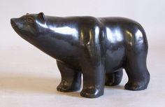 Stone Sculpture | Inuit Eskimo carved stone polar bear sculpture