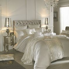 Luxus Bettwäsche von Kylie Minogue - Satin, Pailetten und edle ...