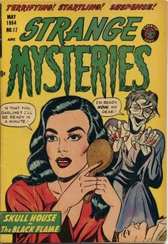 Comic Book Cover For Strange Mysteries #17