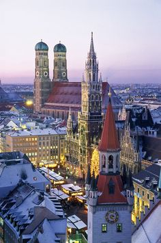 Marienplatz Munich, Germany- While I walked the contemporary side of Munich within walking distance it had medievil and and renausance buildings, so beautiful.