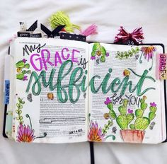 His Grace is Sufficient > Bible Journal Ideas