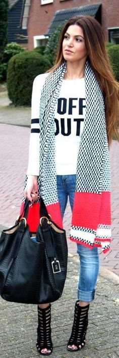 This is simple...pretty fall ♥✤   Keep the Glamour   BeStayBeautiful omg love the bag, and scarf . Shoes are hot but not practical for fall in NY