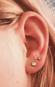 Image result for double lobe piercing