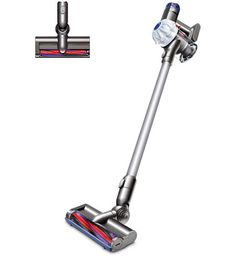 Front view of the Dyson cordless vacuum cleaner. Natural colour with white two-tier cyclone pack. Handheld Vacuum Cleaner, Cordless Vacuum Cleaner, Best Cordless Vacuum, Clean Dyson Vacuum, Nylons, Bali, Best Appliances, Best Vacuum, Sachets