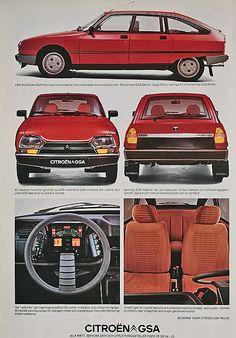 GS, GSA, Birotor. : CITROEN-CATALOG-GALLERY : by CITROEN DS. Citroen Ds, Psa Peugeot Citroen, Auto Retro, Retro Cars, Vintage Cars, K100 Bmw, Car Advertising, Old Cars, Motor Car