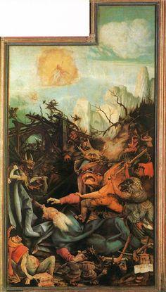 Matthias Grünewald, óleo y temple sobre madera, panel derecho, 1512. Del blog de Avelina Lésper