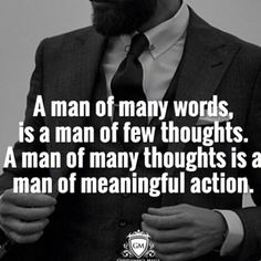 A man of many thoughts