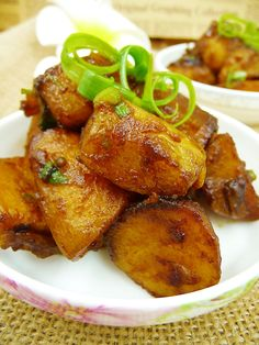 chinese braised potatoes vegetables