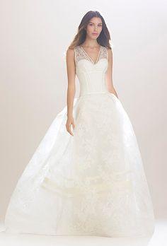 Brides: Carolina Herrera Wedding Dresses - Fall 2016 - Bridal Runway Shows - Brides.com