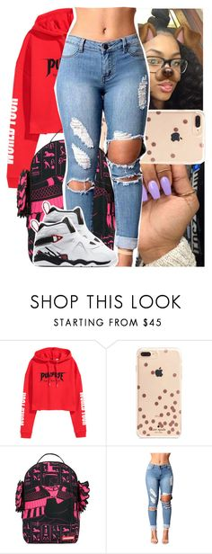 """nba youngboy - war with us."" by heeytyy ❤ liked on Polyvore featuring Kate Spade, Sprayground and NIKE"