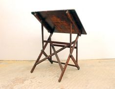 Vintage Drafting Table Designs: A Company Working Out the Details - Vintage Drafting Table, Vintage Stool, Drafting Tables, Folding Furniture, Cool Furniture, Sewing Craft Table, Drinks Tray, Lunch Table, Studio Table
