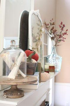Fall Mantel Ideas-  Autumn Decor- Fall Decor- Decorating for Fall- Mantel- Book theme- Books- Fall Ideas- seasonal- home decor- DIY- Do it yourself- crafts- DIY crafts- DIY projects- holiday- home design- wall decorating ideas- decoration ideas- Room decor ideas