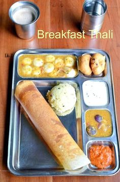 South Indian Breakfast Thali ~ Nalini'sKitchen