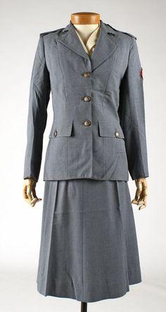 Mainbocher American Red Cross Ladies Uniform.  Circa 1940-59