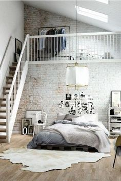 Scandinavian Loft |  15 SCANDINAVIAN DESIGN BEDROOMS THAT WILL BLOW YOU AWAY | See more at  http://www.homedesignideas.eu/scandinavian-design-bedrooms-blow-away/