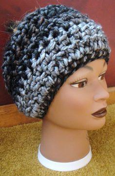 winter headwrap  brown/black/gray multicolored by adamkhloe, $15.00