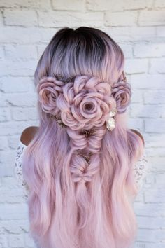 Party Pretty Top 5 Tis the Season for Holiday Hair Inspo - Style - Modern Salon Holiday Hairstyles, Easy Hairstyles For Long Hair, Cute Hairstyles, Braided Hairstyles, Wedding Hairstyles, Rose Hairstyle, Hairstyles Braids Prom, Beautiful Hairstyles, Everyday Hairstyles