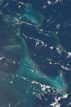 Bahamas. And this is how it looks from the International Space Station - no zoom lens required! Taken August 13, 2013.  KN from space.