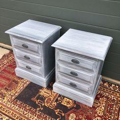 163.....Pair Of Vintage Bedside Chests / Refinished Bedside Tables – Ipplepen Interiors