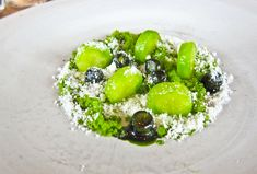 Noma, René Redzepi | Grilled cucumber, dill oil and cream