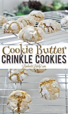 This recipe for Cookie Butter Crinkle Cookies uses the popular Biscoff spread from Trader Joe's to make an easy dessert that's full of rich spice! Popular Cookie Recipe, Cookie Recipes, Dessert Recipes, Roll Cookies, Crinkle Cookies, Cookie Dough, Cookie Butter, Quick And Easy Sweet Treats, Vegetarian Cookies