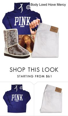 """""""PINK"""" by littydee ❤ liked on Polyvore featuring Victoria's Secret, Abercrombie & Fitch and UGG"""