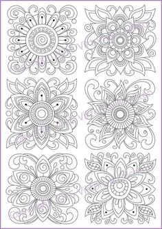 *** CANNOT PRINT  ***  Coloring page doodle flowers coloring printable by ZentangleHouse