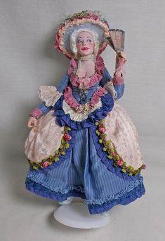Dollhouse miniature IGMA ARTISAN MARCIA BACKSTROM STUNNING MARIE ANTOINETTE